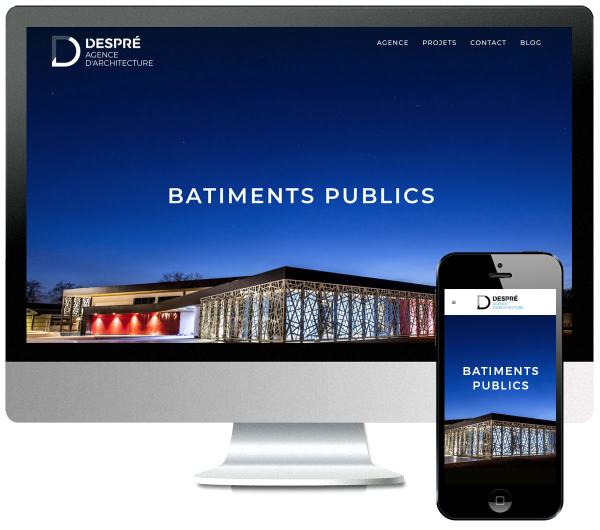 site internet  Despré Agence d'Architecture